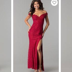 Deep Red Formal Dress